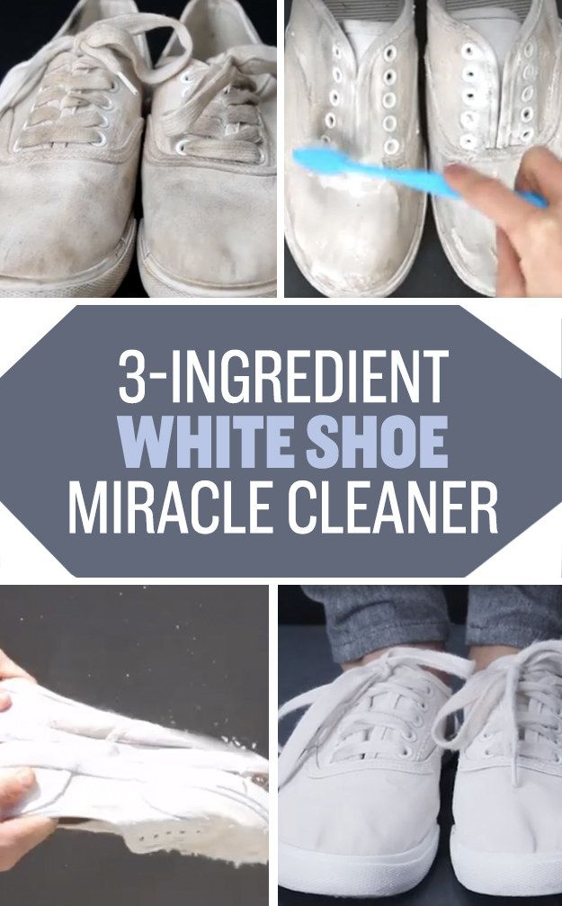 Whiten your favorite pair of faded shoes using baking soda and hydrogen peroxide…