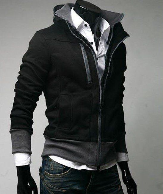 Yes...just, yes.Korean Fashion Styles, Sweaters Jackets, Men Style Casual Jackets, Men Fashion, Men'S Fashion, Funny Stuff, Collars Hoodie, Men Sweaters, Black Jackets