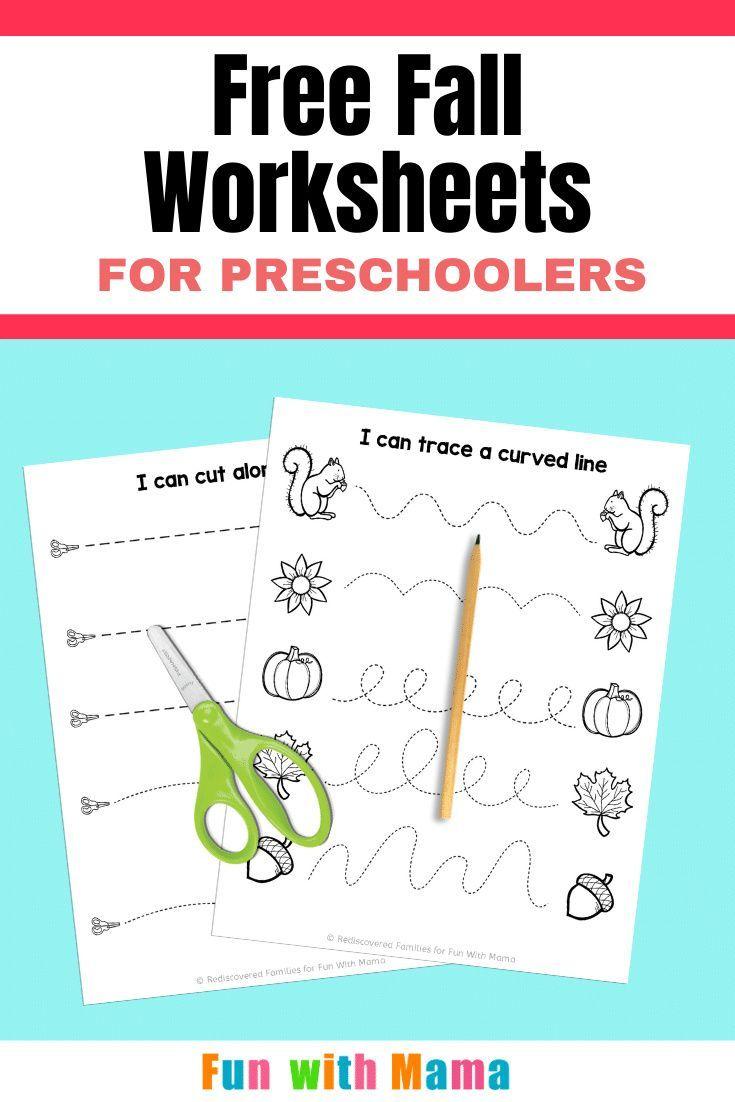 Fall Worksheets For Preschool Free Printable Package Fall Worksheets Homeschool Preschool Activities Printable Activities For Kids [ 1102 x 735 Pixel ]