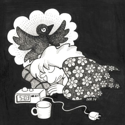 Drøm om en fugl. Til udstilling i CMYK.