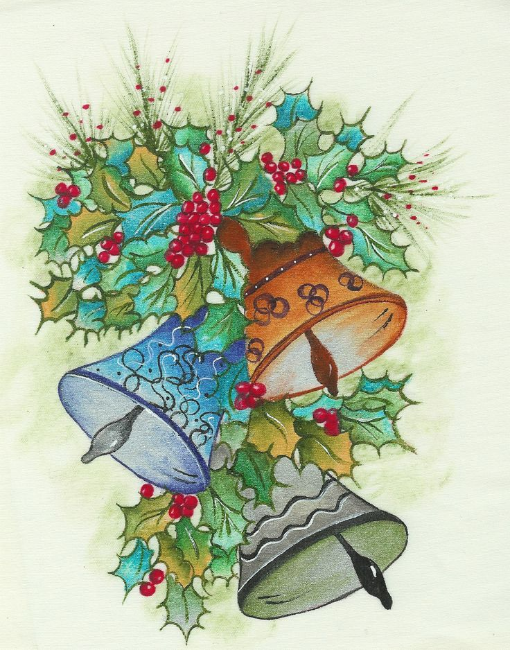 pintura en tela navidad
