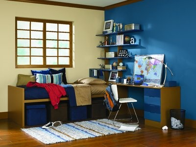 Honor roll toasted pine nut sw 7696 down pour sw 6516 - Como pintar una habitacion de dos colores ...