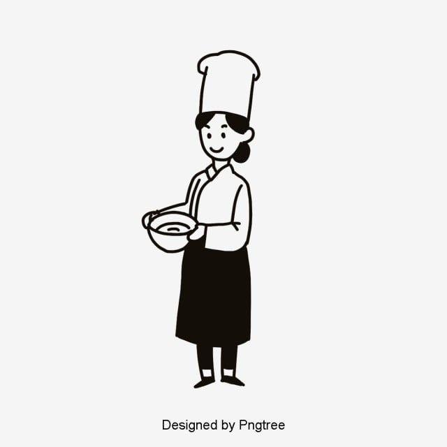 Cartoon Creative Female Chef Cartoon Clipart Chef Clipart Cartoon Png Transparent Clipart Image And Psd File For Free Download Cartoon Clip Art Black And White Cartoon Girl Cartoon