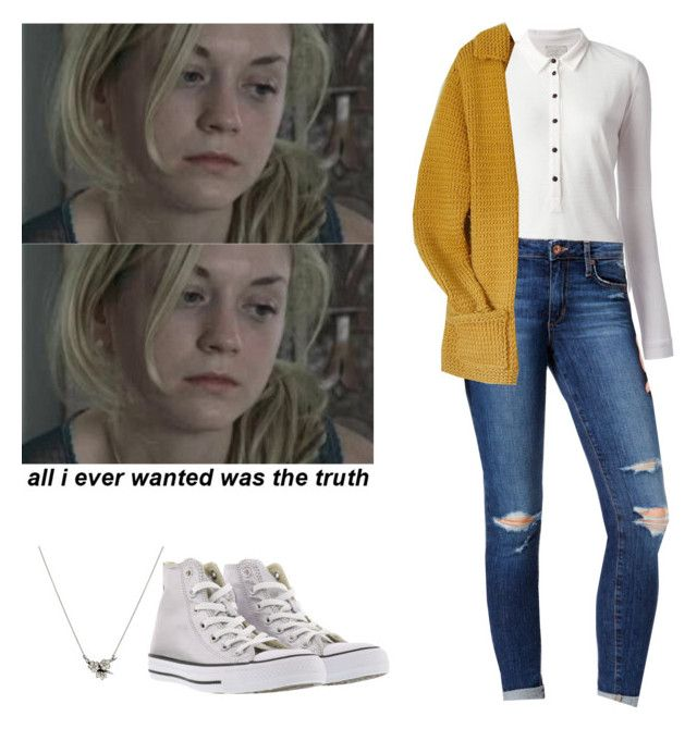 """Beth Greene outfit for chilly weather - twd / the walkig dead"" by shadyannon ❤ liked on Polyvore featuring Shaun Leane, Forte Forte, Joe's Jeans and Converse"