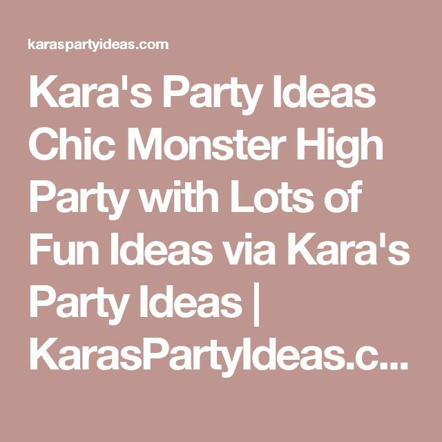 Kara's Party Ideas Chic Monster High Party with Lots of Fun Ideas via Kara's Party Ideas | KarasPartyIdeas.com #MonsterHighDollParty #Party #Ideas #Supplies (1) | Kara's Party Ideas