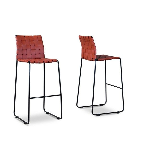 Baxton Studio - Set of 2 40 Fairfield Barstools in Red  sc 1 st  Pinterest & Best 25+ Red bar stools ideas on Pinterest | Red restaurant ... islam-shia.org