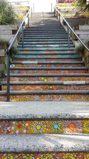 steps. White Rock BC.