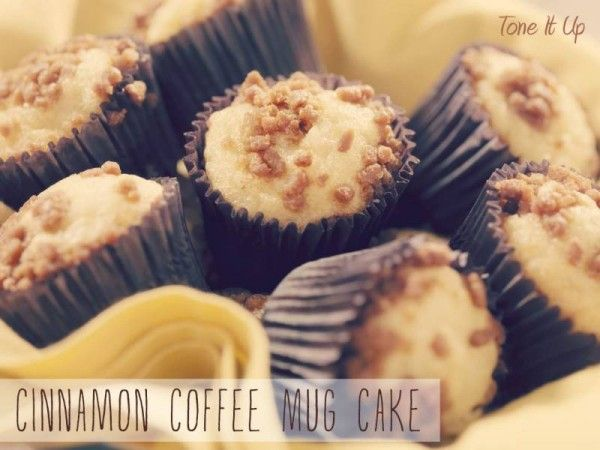 Cinnamon Coffee Mug Cake~ Tone It Up Nutrition Plan Approved!