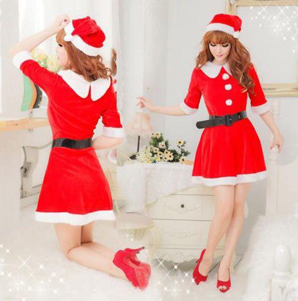 Disfraz Mama Noel, de luxe Fantástico disfraz para llevar el espíritu de la Navidad cerca de ti.