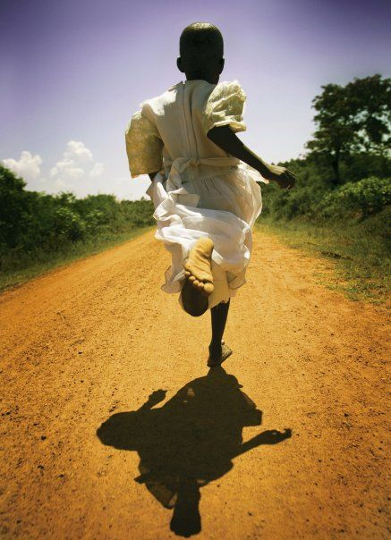 Her mother told her not to ruin her white dress but it was too tempting, seeing the empty road, bereft of obstacles, calling her feet to fly towards freedom.