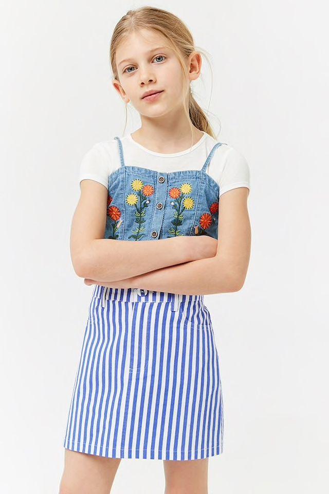 42e947300558 Girls Striped Mini Skirt (Kids)