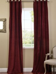 Burgundy Grommet Velvet Blackout Curtains Room Decor In 2018 Pinterest And