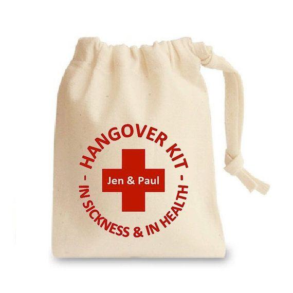 Personalised Hangover Kit Bag For Wedding by ThePersonalWeddingCo