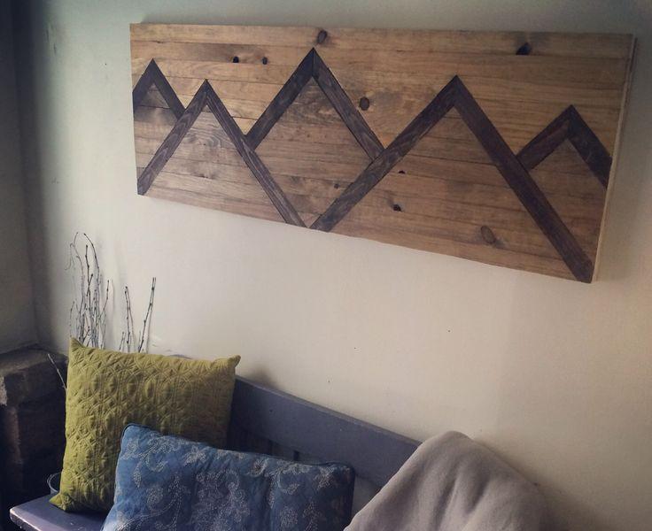 Wood Wall Art Mountain Range by mountaindwelling on Etsy https://www.etsy.com/listing/243516178/wood-wall-art-mountain-range