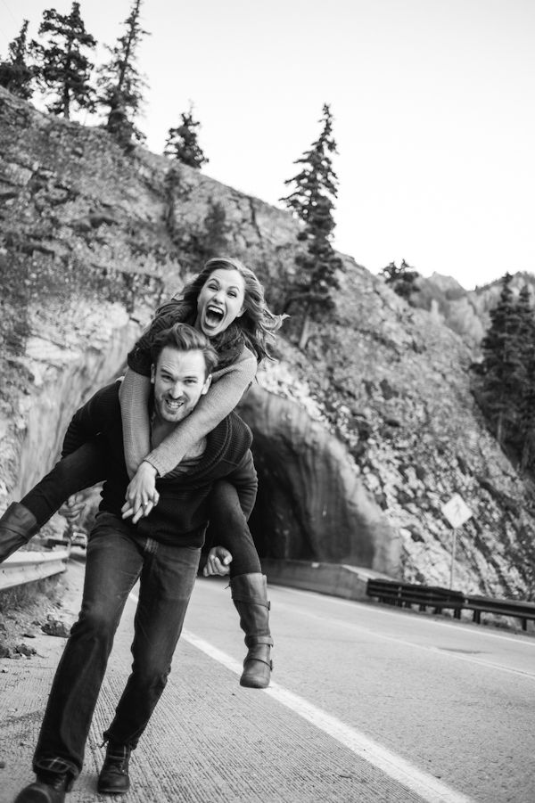 engagement session in Ouray mining town near Denver, CO with photos by Chowen Photography   via junebugweddings.com