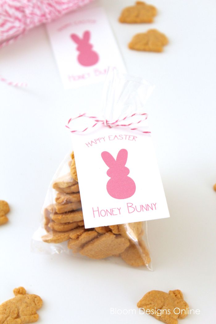 195 best easter giftstreats images on pinterest easter easter honey bunny free printable from bloom designs online negle Images