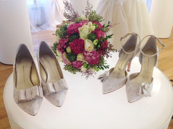Alessandra Rinaudo shoes from Luxury New Collection #mfw #press #weddingdress #nicolespose #alessandrarinaudo