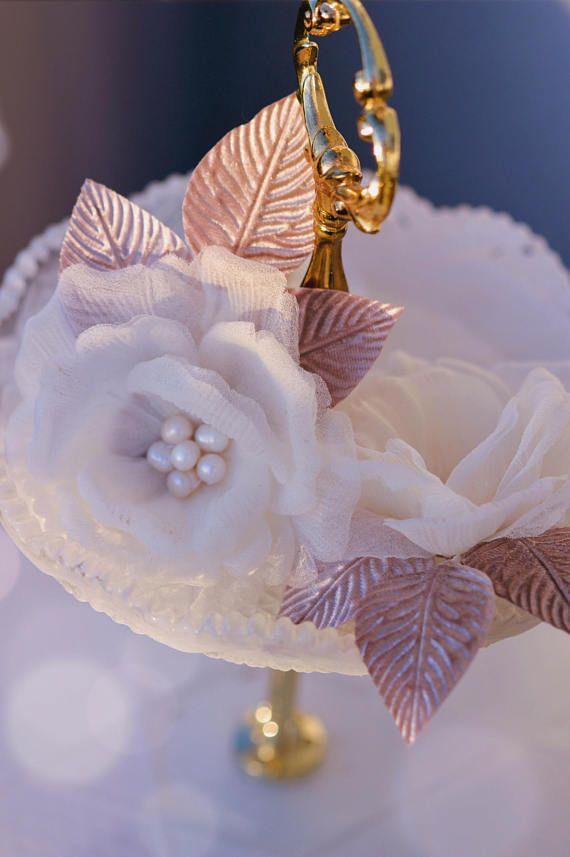 Silk Rose Hair Clip - Hair Flowers - Bridal Hair Accessories- Bridal Hairpiece - White Rose - Wedding Hair Flowers - Pin Up Flowers