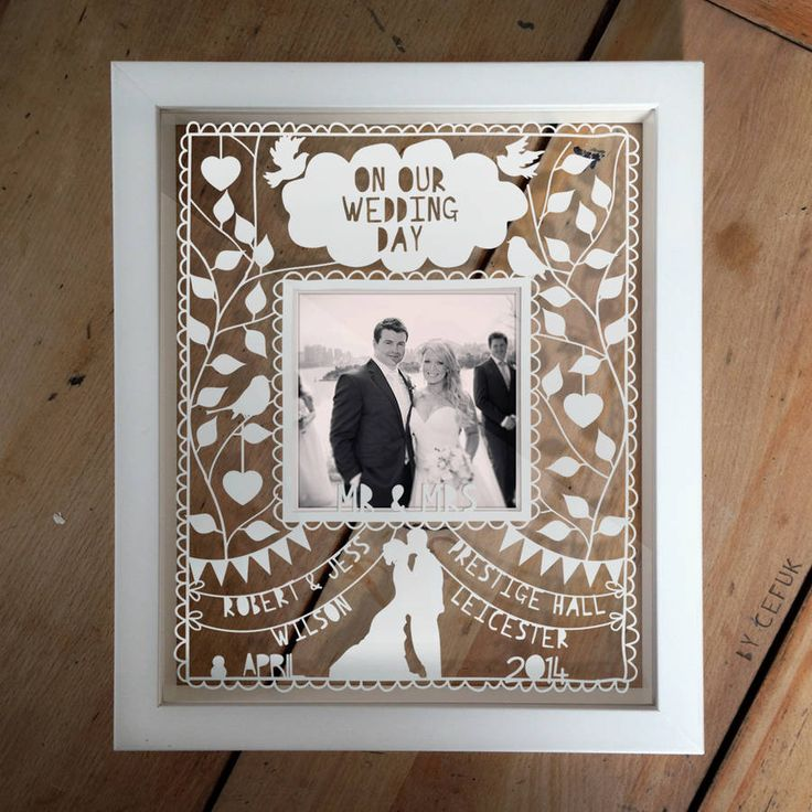 Personalised Instagram Photo Wedding Papercut, definetly getting one after the wedding
