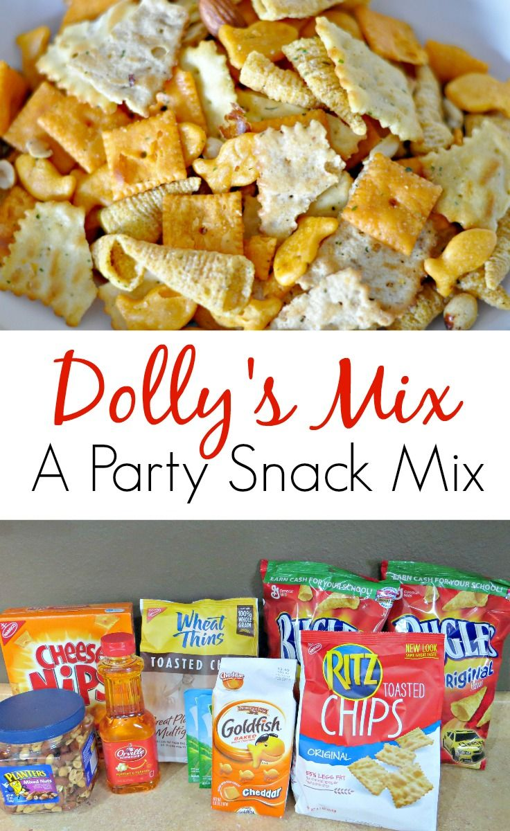 Dolly's Mix A Party Snack Mix. Great for holiday gatherings!