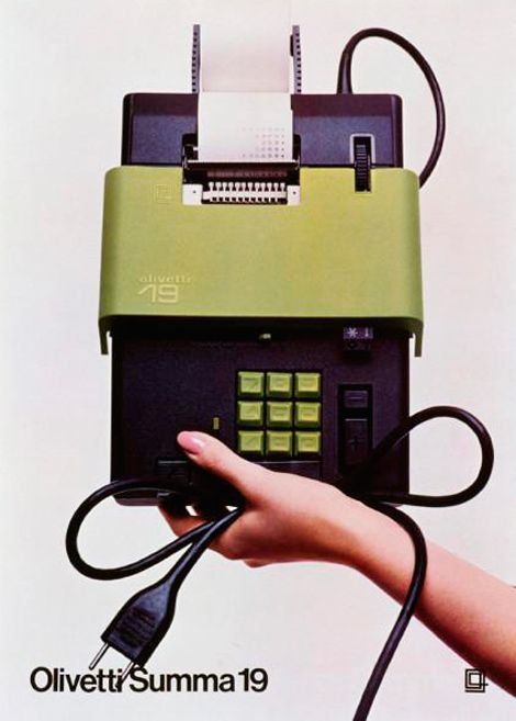 Summa 19 calculator, designed by Ettore Sottsass for Olivetti, 1970