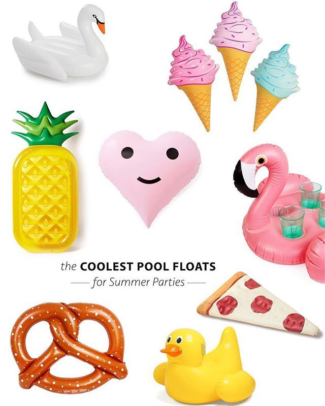 Summer pool parties are the best and we've rounded up the cutest pool floats for your summer ❤️ Shop our picks here  http://liketk.it/2ozCd @liketoknow.it #liketkit OR with the link in our profile #poolparties #poolfloats #bacheloretteparty