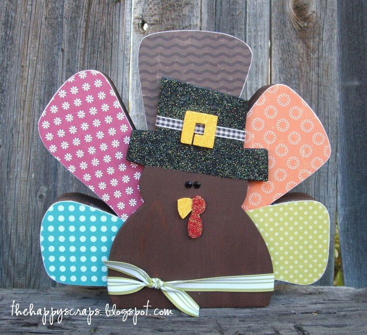 Cute Turkey #thehappyscraps #thewoodconnection