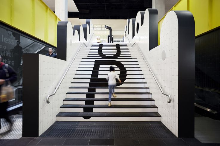 Retail winner – Melbourne Central Lower Ground Refresh by Kennedy Nolan. Photo by Brilliant Creek.  #Retail #Interior #Design #Color