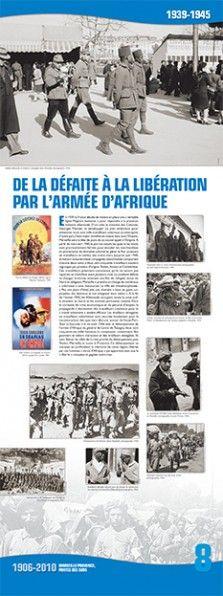 N°8 : De la défaite à la Libération par l'armée d'Afrique (1939-1945). En 1939, la France décide de mettre en place une « véritable ligne Maginot humaine » pour répondre à la pression militaire allemande. D'un côté, le ministre des Colonies, Georges Mandel, va développer un plan ambitieux pour acheminer 300.000 travailleurs coloniaux en métropole, d'autre part, l'état-major mobilise en masse dans tout l'Empire... © Groupe de recherche Achac