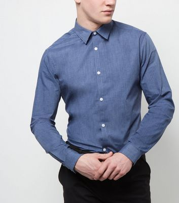 New Look Blue Long Sleeve Cross Dye Shirt 3681764 Add this long sleeve shirt to your work wardrobe - try with tailored trousers and gibson shoes.- Collared neck- Button front fastening- Simple long sleeves- Casual fit that is true to size- Model is 6 http://www.MightGet.com/march-2017-1/new-look-blue-long-sleeve-cross-dye-shirt-3681764.asp