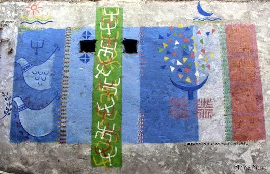 I colori di Orgosolo sui muri  Murale di Ferdinando Medda foto di Anna Musu