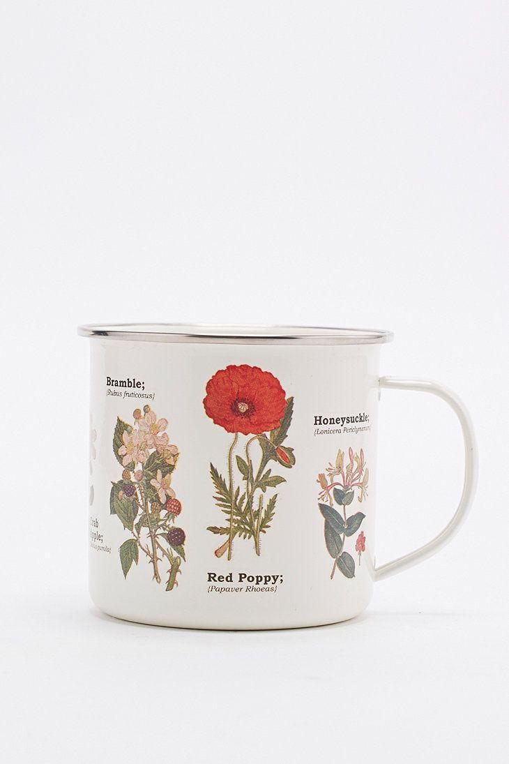 Enamel Flower Mug - Urban Outfitters