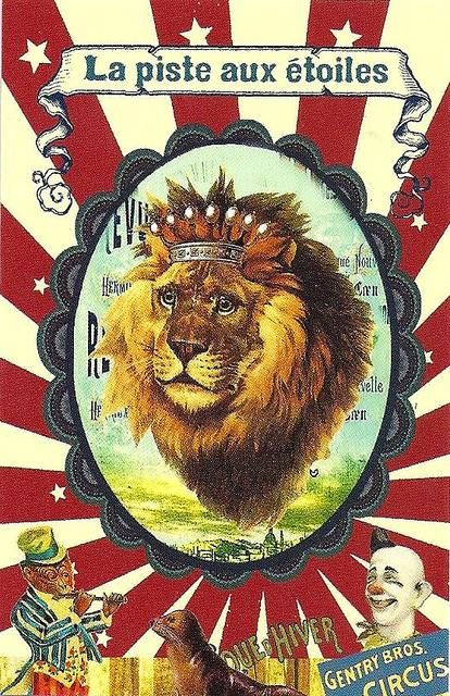 Vintage French Circus Poster.                              …