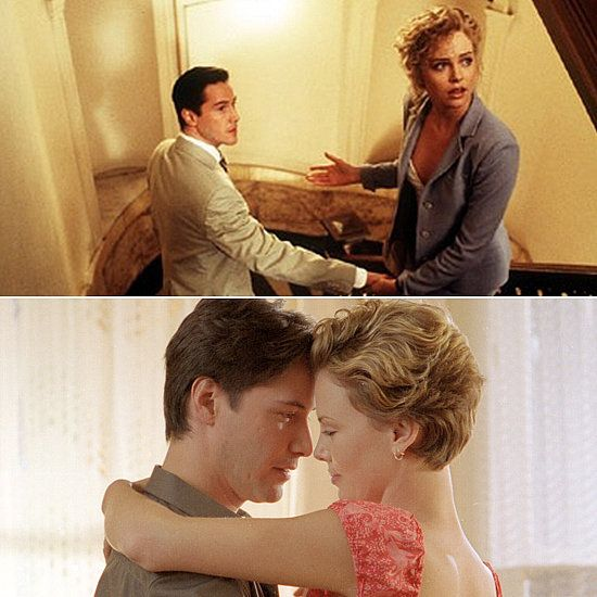 Charlize Theron finds herself sick during both of her onscreen romances with Keanu Reeves. First, she's mentally ill in The Devil's Advocate, driven to insanity, and then she struggles with a terminal illness in Sweet November — two not-so-happily ever afters.