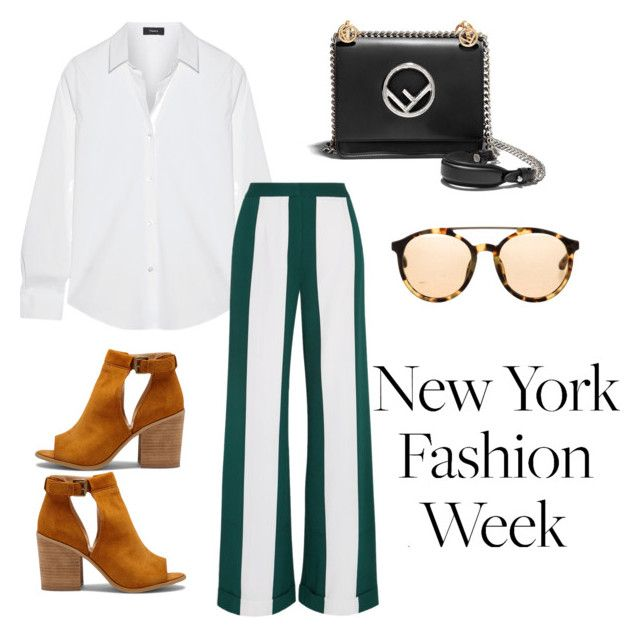 """Untitled #46"" by hfirlyana on Polyvore featuring Theory, Monse, Fendi, 3.1 Phillip Lim and Sole Society"