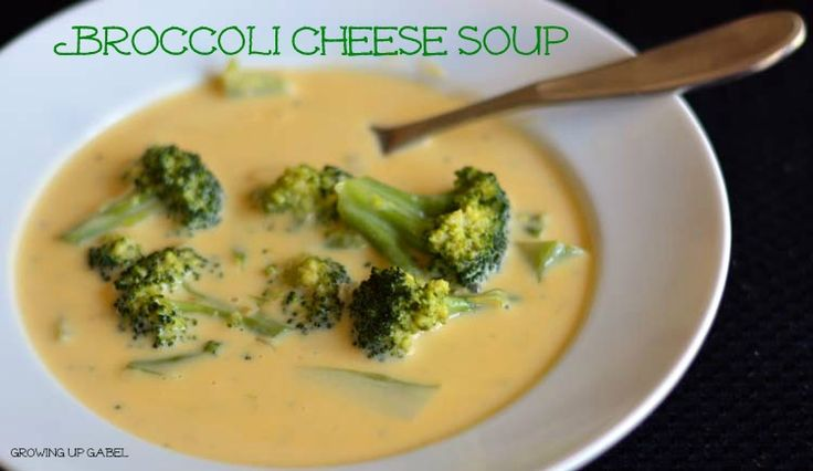 Broccoli Cheese Soup...uses real cheese. Yum! | Soups | Pinterest