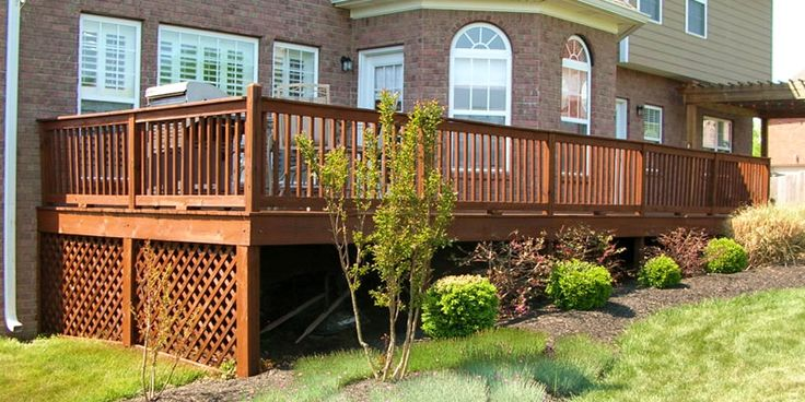 Image result for What color deck stain matches red brick