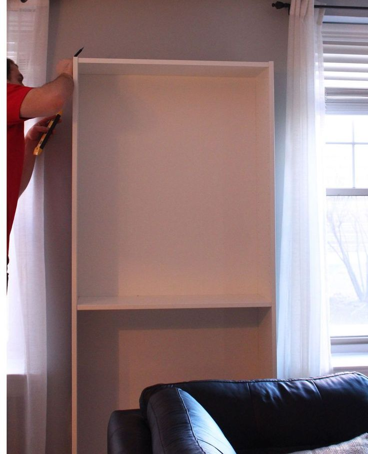 Hometalk | Hiding an Ugly Wall Unit Air Conditioner: IKEA Billy Hack