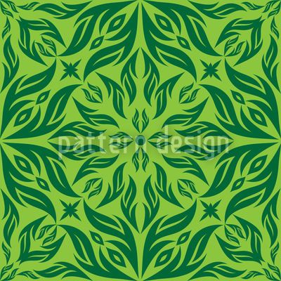 Green Blossom Dream by Yasir Ahmed Khan available as a vector file on patterndesigns.com