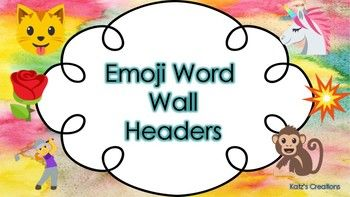 These Emoji word wall headers are perfect for decorating your classroom with an emoji theme. There are two sized in this product, and each letter is matched with an emoji that begins with the same letter. These cards would pair perfectly with the emoji schedule cards (https://www.teacherspayteachers.com/Product/Emoji-Schedule-Cards-3038054).