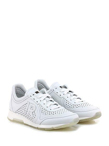 JOHN RICHMOND - Sneakers - Uomo - Sneaker in pelle e pelle forata con suola in gomma, tacco 60, platform 20 con battuta 40. - WHITE - € 289.00