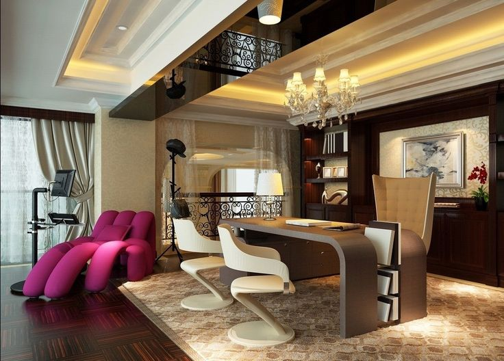Home Office Ideas Pinterest: Private Luxury Office Design