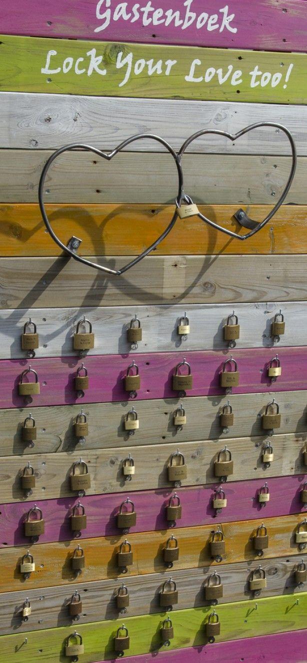 Idee voor gastenboek: love locks