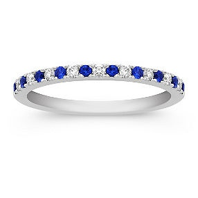 1/3 ct. t.w. Round Sapphire and Diamond Anniversary Band