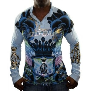 CHRISTIAN AUDIGIER Ed Hardy Mens Tattoo Long Sleeve Henley Shirt Tee (Apparel) http://www.amazon.com/dp/B005BSS2XS/?tag=dismp4pla-20