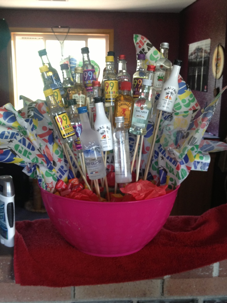 DIY liquor bouquet for any special occasions. made with ...