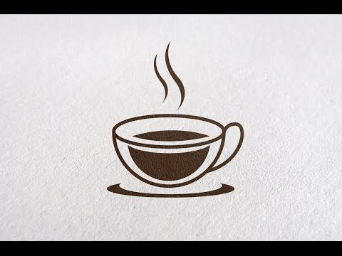 Drawing a vector ceramic coffee cup with coffee splash in Adobe Illustrator - Slow Real Time - YouTube