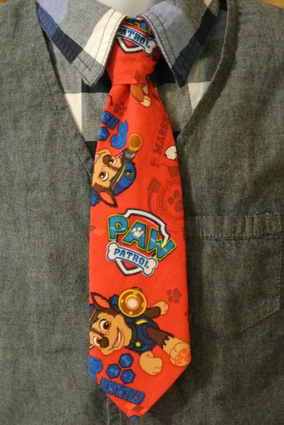 Etsy listing at https://www.etsy.com/listing/265172329/clip-on-tie-paw-patrol-tie-little-boys