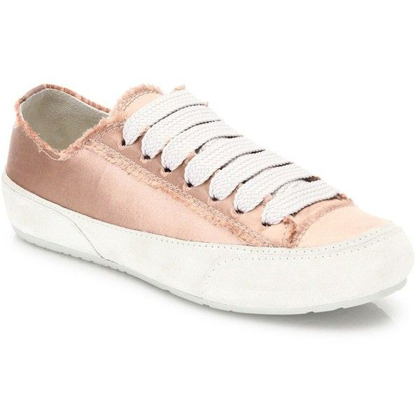 Pedro Garcia Parson Silk Satin Lace-Up Sneakers (1.435 BRL) ❤ liked on Polyvore featuring shoes, sneakers, apparel & accessories, cap toe sneakers, laced up shoes, lace up sneakers, lacing sneakers and pedro garcia shoes