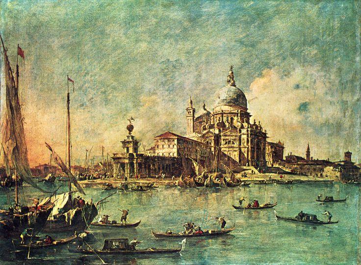 Blick von der Punta della Dogana in Richtung la Chiesa della Salute